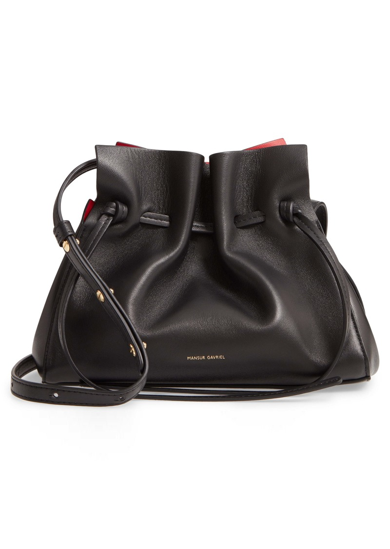 Mansur Gavriel Mini Lambskin Leather Drawstring Bag