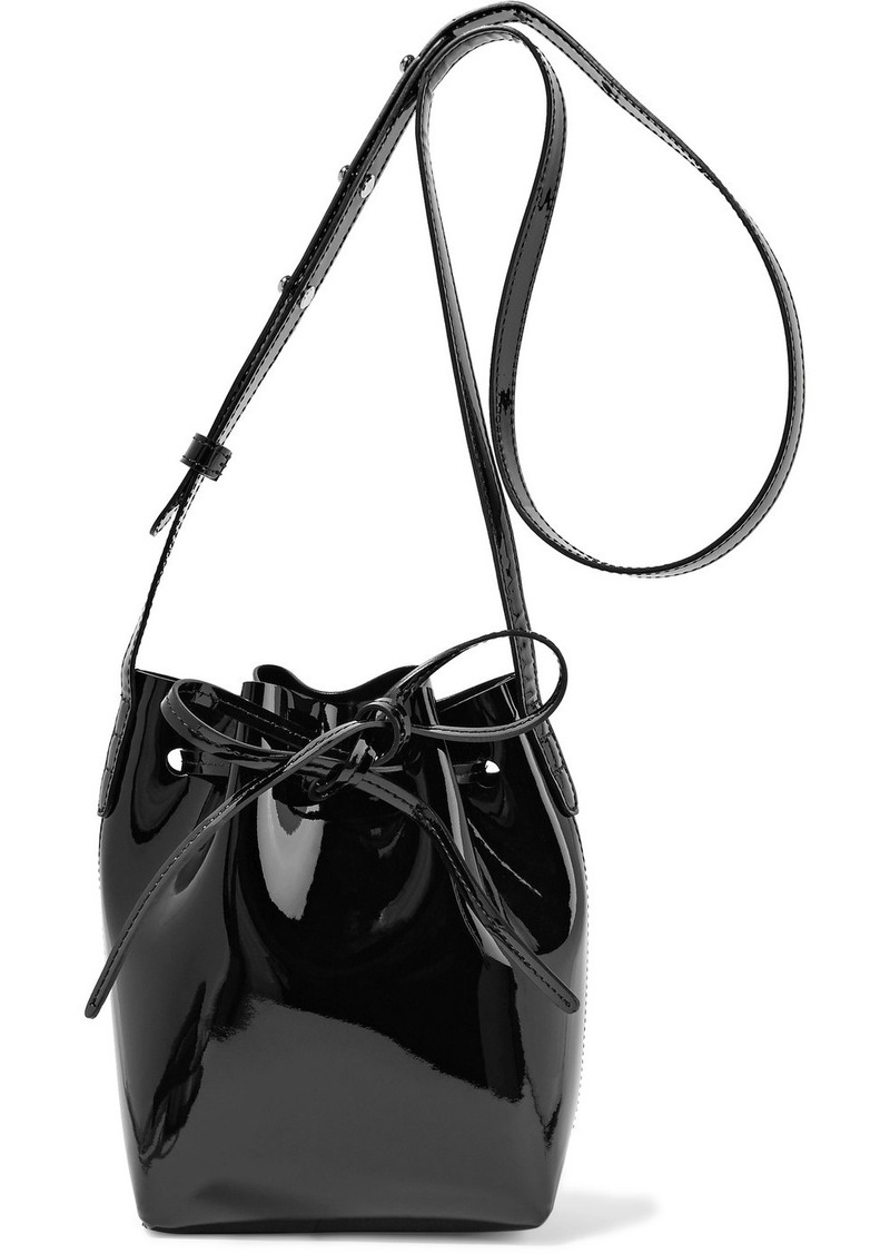 Mansur Gavriel Mansur Gavriel Mini Mini patent-leather bucket bag ...