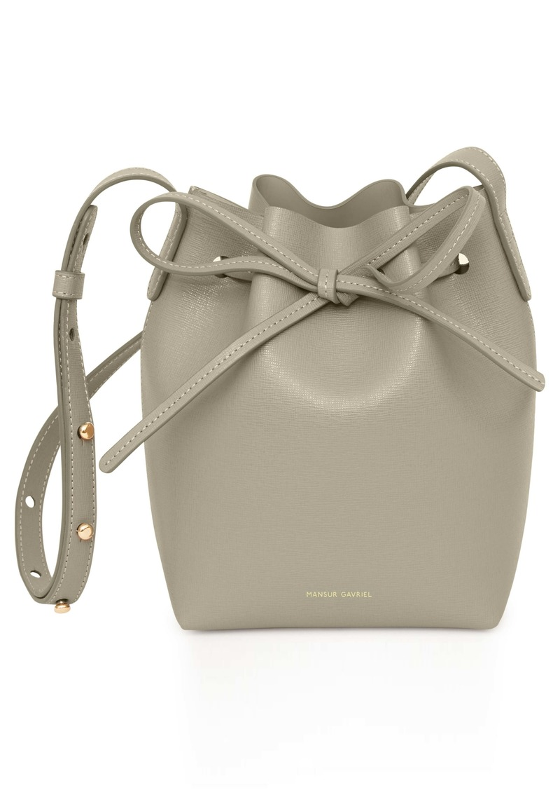 Mansur Gavriel Mini Saffiano Leather Bucket Bag