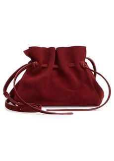 Mansur Gavriel Mini Suede Drawstring Bag