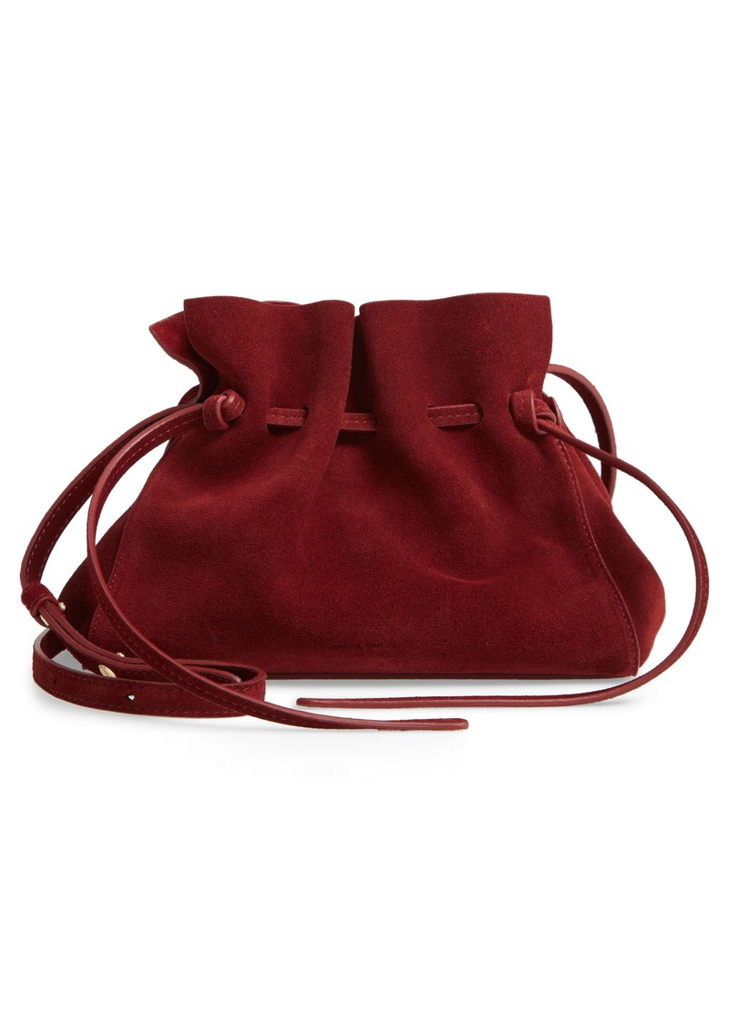 Mansur Gavriel Mini Suede Drawstring Bag