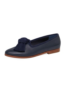 Mansur Gavriel Mixed Leather Bow Flat Loafer