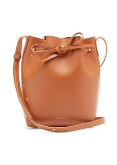 Mansur Gavriel Pink-lined Mini leather bucket bag