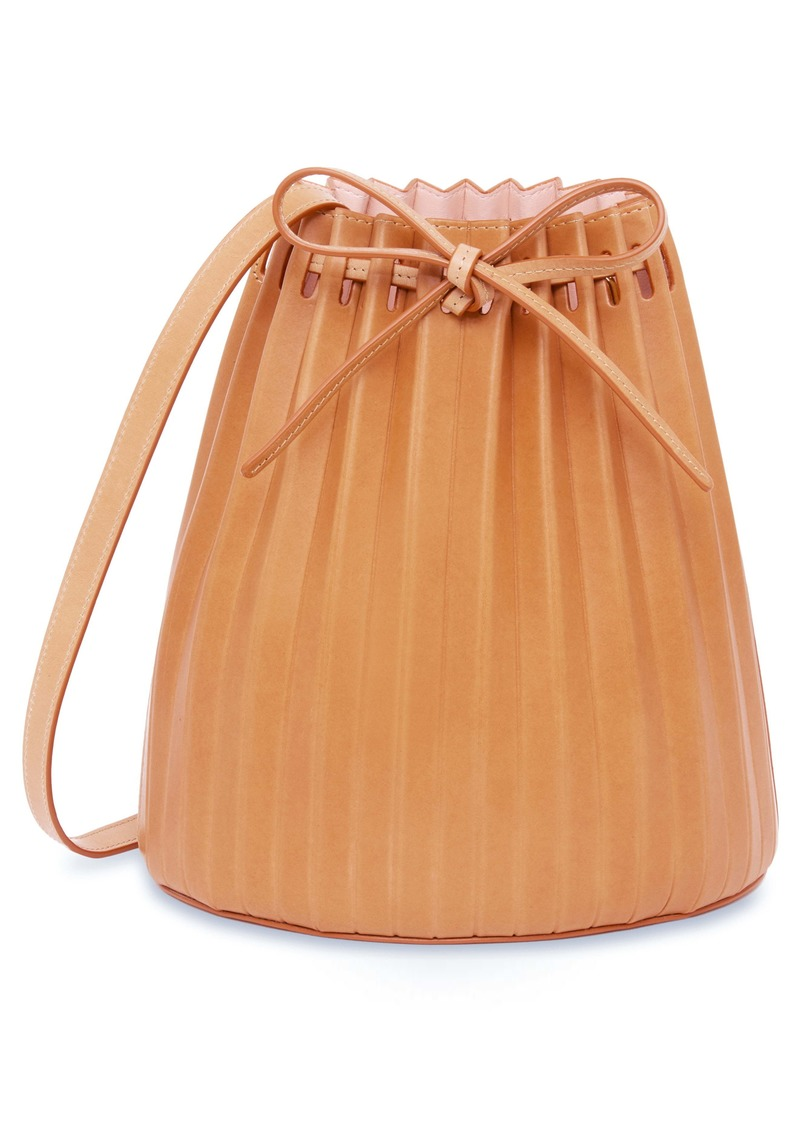 Mansur Gavriel Pleated Leather Bucket Bag