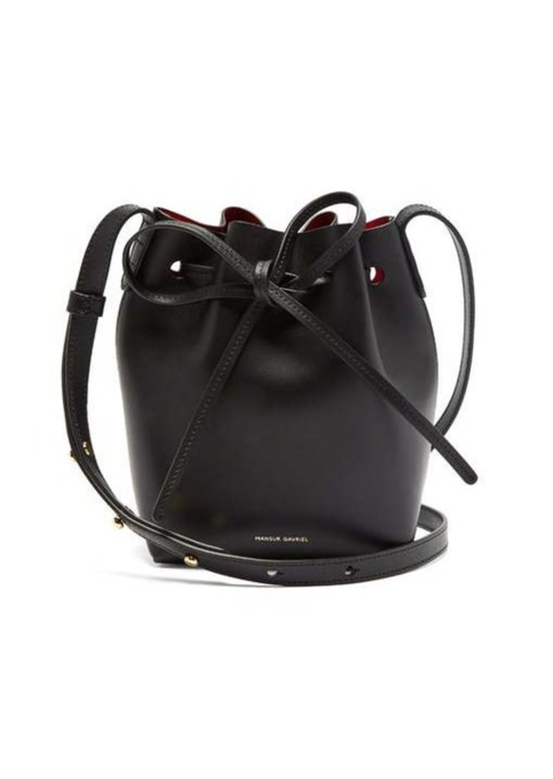 Mansur Gavriel Red-lined Mini Mini leather bucket bag