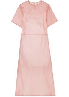 Mansur Gavriel Silk-tulle Midi Dress