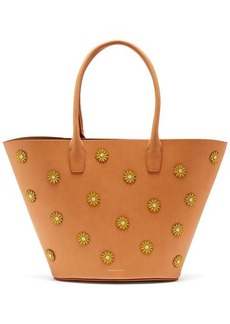 Mansur Gavriel Sunflower-embellished leather tote bag