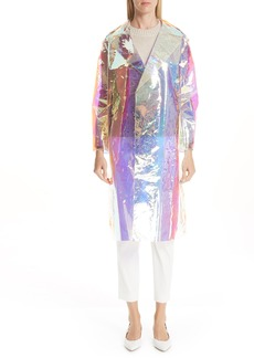 MANSUR GAVRIEL Translucent Iridescent Trench Coat