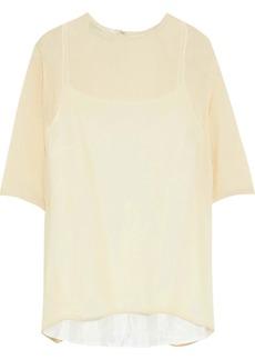 Mansur Gavriel Woman Silk-blend Seersucker Top Ecru