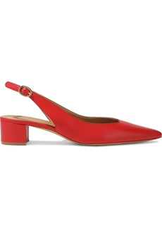Mansur Gavriel Woman Leather Slingback Pumps Crimson