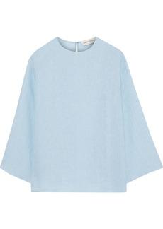 Mansur Gavriel Woman Linen-gauze Blouse Sky Blue