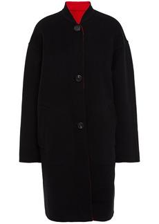 Mansur Gavriel Woman Reversible Wool-felt Coat Black