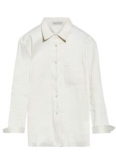 Mansur Gavriel Woman Satin-twill Shirt Ivory
