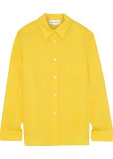 Mansur Gavriel Woman Silk Crepe De Chine Shirt Yellow