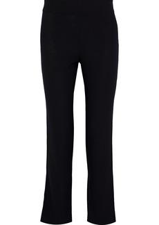 Mansur Gavriel Woman Stretch-crepe Slim-leg Pants Black