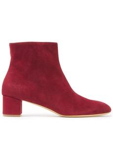 Mansur Gavriel Woman Suede Ankle Boots Crimson