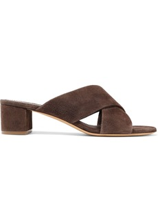 Mansur Gavriel Woman Suede Sandals Chocolate