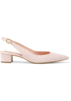 Mansur Gavriel Woman Suede Slingback Pumps Antique Rose