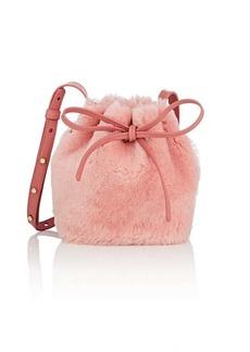 Mansur Gavriel Women's Mini Mini Shearling Bucket Bag - Pink