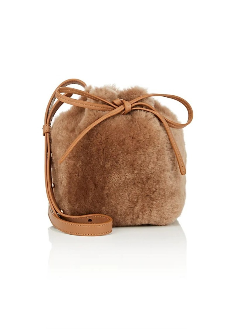 Mansur Gavriel Women's Mini Mini Shearling Bucket Bag - Brown
