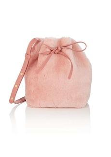 Mansur Gavriel Women's Mini Shearling Bucket Bag - Pink