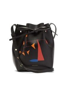 Mansur Gavriel X Calder Mini printed leather bucket bag