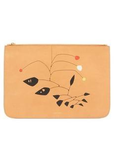 Mansur Gavriel X Calder printed leather pouch