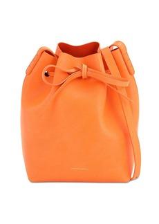 Mansur Gavriel Mini Vegetable Tanned Leather Bucket Bag