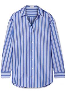 Mansur Gavriel Oversized Striped Cotton Shirt