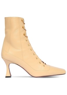 MANU Atelier 80mm Lace-up Leather Ankle Boots