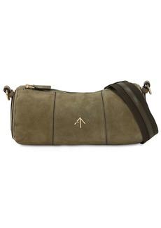 MANU Atelier Cylinder Suede Shoulder Bag
