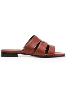 MANU Atelier flat leather sandals