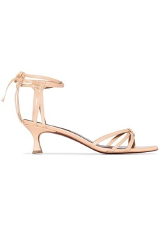 MANU Atelier Lace 50mm strappy sandals
