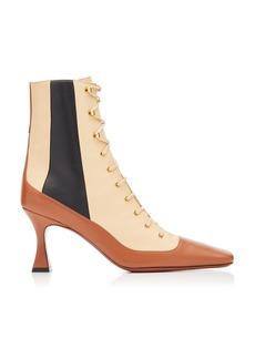 Manu Atelier - Women's Duck Lace Up Leather Boots - Multi - Moda Operandi