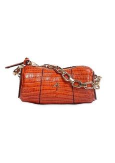 MANU Atelier Micro Cylinder Lizard Print Leather Bag