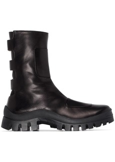 MANU Atelier Moon Boot leather ankle boots