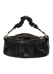 MANU Atelier Ruched Cylinder Chain Soft Leather Bag