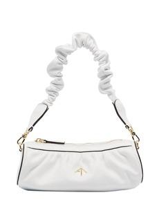 MANU Atelier ruched mini cylinder shoulder bag