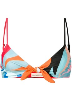 Mara Hoffman abstract-print bikini top