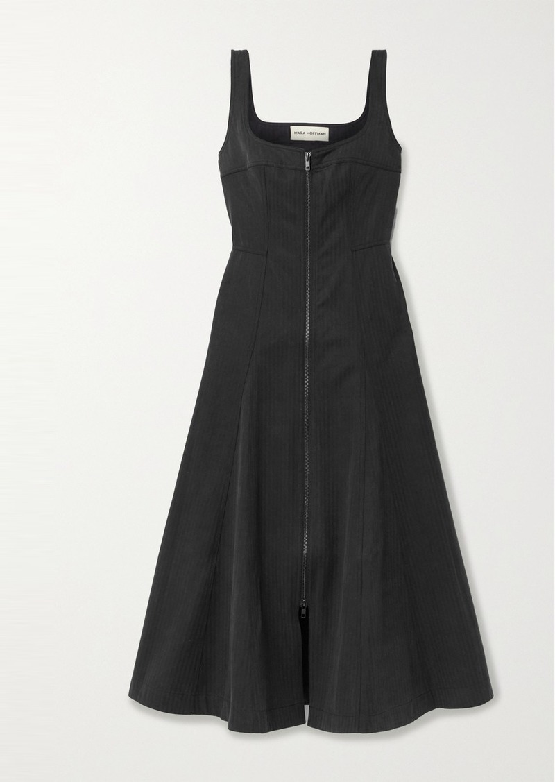 Mara Hoffman Adriana Striped Tencel Lyocell And Organic Cotton-blend Midi Dress