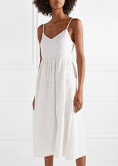 Mara Hoffman Agnes striped organic cotton-jacquard midi dress