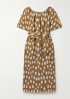 Mara Hoffman Aliz Belted Fil Coupé Organic Cotton Midi Dress