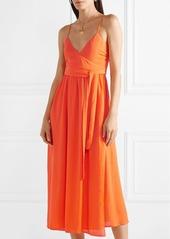 Mara Hoffman Alma wrap-effect crepon midi dress