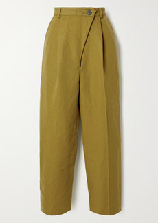 Mara Hoffman Net Sustain Almeria Pleated Linen And Organic Cotton-blend Straight-leg Pants