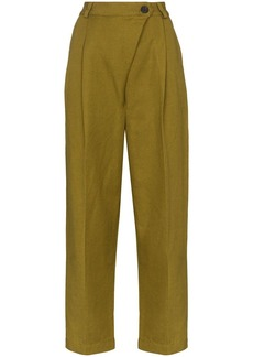 Mara Hoffman Almeria wide leg cropped trousers