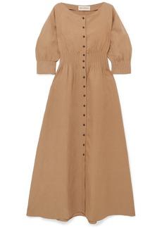 Mara Hoffman Amia Tencel And Linen-blend Maxi Dress