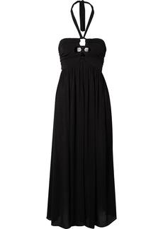 Mara Hoffman Annika Cutout Crepon Halterneck Dress
