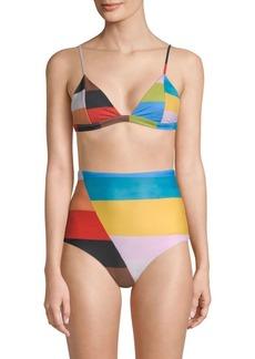 Mara Hoffman Astrid Rainbow Bikini Top