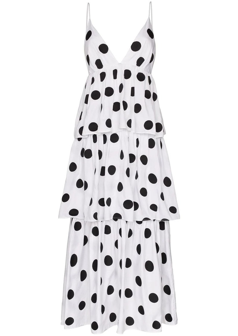 Mara Hoffman Bari tiered polka-dot organic cotton dress