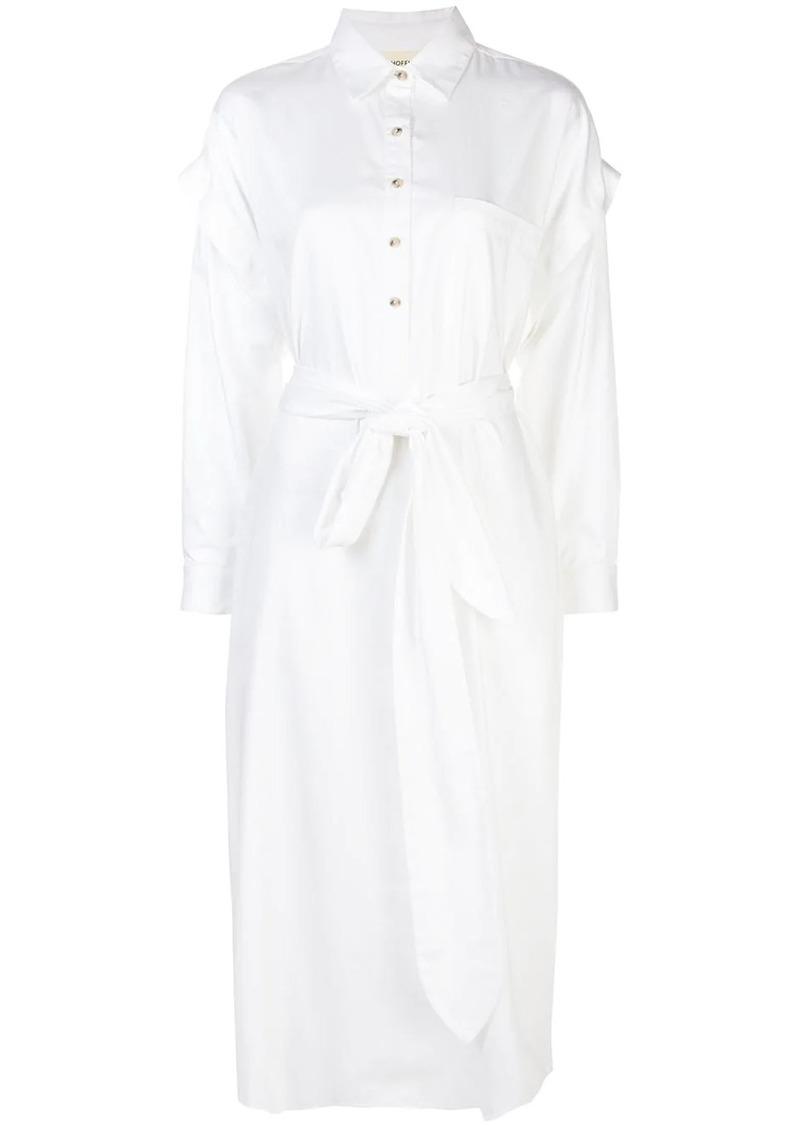 Mara Hoffman belted shirt dress